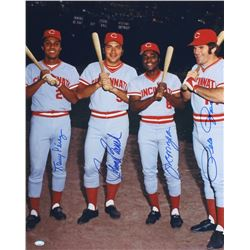 Cincinnati Reds Signed 16x20 Photo with (4) Signatures Including Pete Rose, Johnny Bench, Joe Morgan