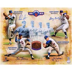 1969 Mets Team-Signed 16x20 Photo with (4) Signatures Including Nolan Ryan, Tom Seaver, Gary Gentry