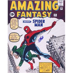"Stan Lee Signed ""Amazing Fantasy"" 16x20 Photo (FSC COA  Lee Hologram)"