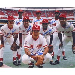 1976 Reds Team-Signed 16x20 Photo with (8) Signatures Including Pete Rose, Joe Morgan, Johnny Bench,