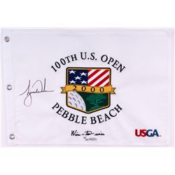 "Tiger Woods Signed LE ""Wire-to-Wire"" 2000 PGA U.S. Open Pin Flag (UDA COA)"