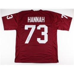 "John Hannah Signed Alabama Crimson Tide Jersey Inscribed ""CHOF 99"" (JSA COA)"
