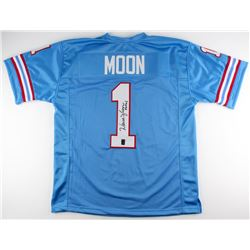 "Warren Moon Signed Oilers Jersey Inscribed ""HOF 06"" (Moon Hologram)"