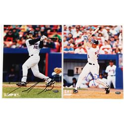 Lot of (2) Mets 8x10 Photos Signed by Derek Bell  John Olerud (FSC COA)