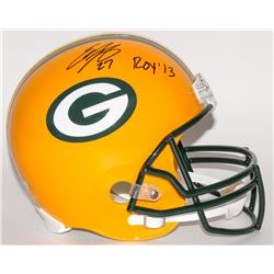 """Eddie Lacy Signed Packers Full-Size Helmet Inscribed """"ROY '13"""" (Lacy Hologram)"""