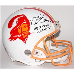 """Mike Alstott Signed Buccaneers Full-Size Authentic Throwback Helmet Inscribed """"SB XXXVII Champs!"""" (R"""