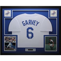 "Steve Garvey Signed Dodgers 35"" x 43"" Custom Framed Jersey (JSA COA)"