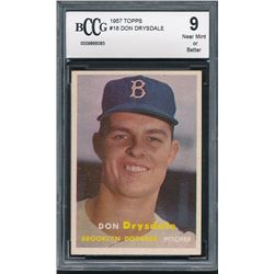 1957 Topps #18 Don Drysdale RC (BCCG 9)