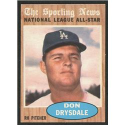 1962 Topps #398 Don Drysdale AS
