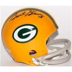 Bart Starr Signed Packers Mini-Helmet (TriStar Hologram)