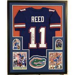 "Jordan Reed Signed Florida Gators 34""x 42"" Custom Framed Jersey (JSA COA)"