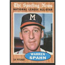 1962 Topps #399 Warren Spahn AS