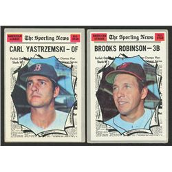 Lot of (2) 1970 Topps Baseball Cards with #455 Brooks Robinson AS  #461 Carl Yastrzemski AS