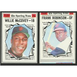 Lot of (2) 1970 Topps Baseball Cards with #463 Frank Robinson AS  #450 Willie McCovey AS