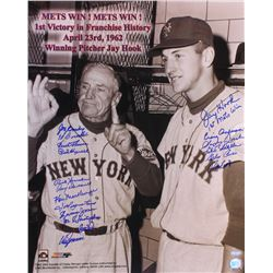 Casey Stengel  Jay Hook Mets 16x20 Photo Signed by (18) With Jay Hook, Frank Thomas, Joe Ginsberg, F