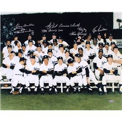 "New York Yankees ""Bronx Zoo"" 16x20 Photo Signed by (7) with Goose Gossage, Lou Piniella, Ron Guidry,"