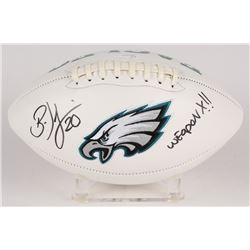 "Brian Dawkins Signed Eagles Logo Football Inscribed ""Weapon X!!"" (JSA COA)"