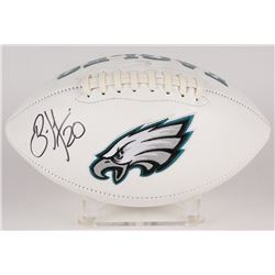 Brian Dawkins Signed Eagles Logo Football (JSA COA)