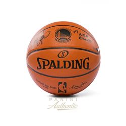 "Kevin Durant Signed Warriors LE Spalding NBA Game Ball Series Basketball Inscribed ""17 NBA Champ"" (P"