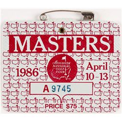 Original 1986 Masters Augusta National Golf Club Badge