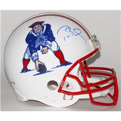 Tom Brady Signed Patriots Throwback Full-Size Authentic Pro-Line Helmet (Tristar  Steiner COA)