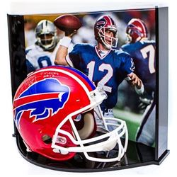 "Jim Kelly Signed LE Bills Full-Size Authentic Pro-Line Helmet Inscribed ""HOF 02""  ""Forever #12"" With"