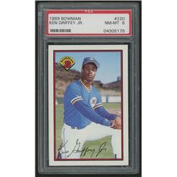 1989 Bowman #220 Ken Griffey Jr. RC (PSA 8)