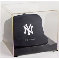 Yogi Berra Signed Yankees New Era Fitted Hat with Display Case (JSA COA)