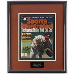"Greg Maddux Signed Braves 15x18 Framed Sports Illustrated Magazine Display Inscribed ""92-95 CY""(JSA"