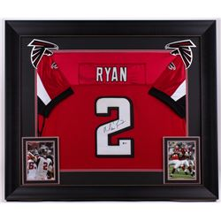 Matt Ryan Signed Falcons 31x36 Custom Framed Jersey (Beckett COA)