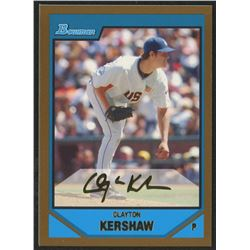 2007 Bowman Draft Future's Game Prospects Gold #BDPP77 Clayton Kershaw