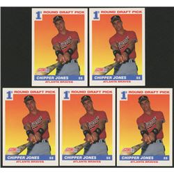 Lot of (5) 1991 Score #671 Chipper Jones RC