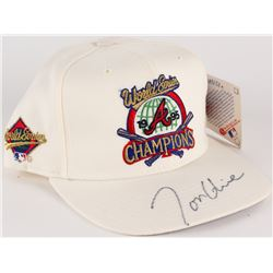 Tom Glavine Signed 1995 Braves World Series New Era Hat (JSA COA)