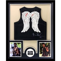 "Norman Reedus Signed ""The Walking Dead"" 34x42 Custom Framed Vest (Radtke COA)"