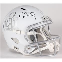 Tom Brady Signed LE Super Bowl 51 Full-Size Custom Matte White ICE Speed Helmet (Tristar Hologram  S