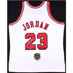 "Michael Jordan Signed Limited Edition Authentic Bulls Jersey Inscribed ""2009 HOF"" with Hall Of Fame"
