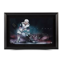 "Max Domi Signed Coyotes ""Dynamic"" 16x24 Custom Framed Hockey Stick Blade Display (UDA COA)"