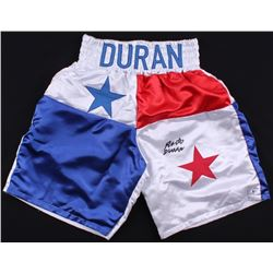 Roberto Duran Signed Boxing Trunks (Beckett COA)