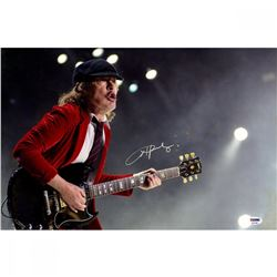 Angus Young Signed AC/DC 12x18 Photo (PSA Hologram)
