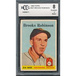 1958 Topps #307 Brooks Robinson (BCCG 8)