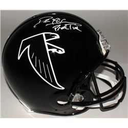 "Deion Sanders Signed Falcons Throwback Authentic On-Field Helmet Inscribed ""Prime Time"" (JSA COA)"