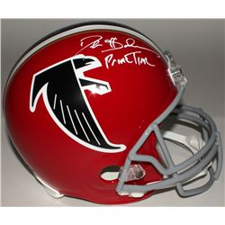 "Deion Sanders Signed Falcons Full-Size Replica Helmet Inscribed ""Prime Time"" (JSA COA)"