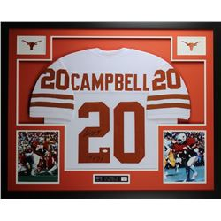 "Earl Campbell Signed Texas Longhorns 35"" x 43"" Custom Framed Jersey Inscribed ""HT 77"" (JSA COA)"
