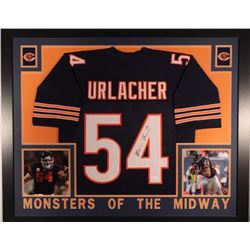 "Brian Urlacher Signed Bears 35"" x 43"" Custom Framed Jersey (JSA COA)"