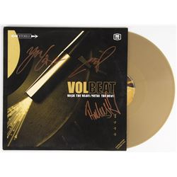 Volbeat  Rock the Rebel/Metal the Devil  Vinyl Record Album Signed by (3) Anders Kjolholm, Michael P