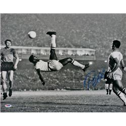 "Pele Signed ""Bicycle Kick"" 16x20 Photo (PSA COA)"