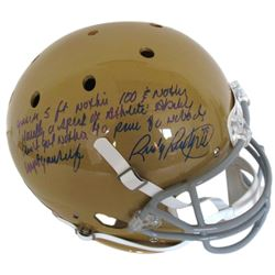 "Rudy Ruettiger Signed Full-Size Notre Dame Fighting Irish Helmet with ""Full Speech"" Extensive Inscri"