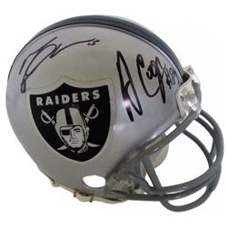 Amari Cooper  Michael Crabtree Signed Raiders Mini-Helmet (JSA COA)