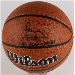 "Steve Alford Signed Basketball Inscribed ""1987 NCAA Champs"" (JSA COA)"