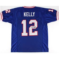 "Jim Kelly Signed Bills Jersey Inscribed ""HOF 02"" (JSA Hologram)"